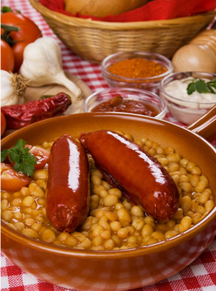 BEANS AND SAUSAGES